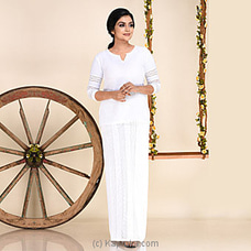 White Linen Lungi Kit-lk 1064 at Kapruka Online