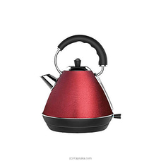 Abans Pyramid Kettle With Red Ice Flake Finish 1.7L BT-K02E By Abans at Kapruka Online for specialGifts