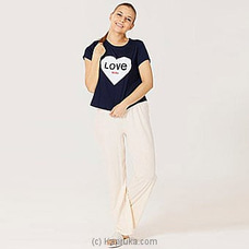 Cotton Tee With Pant Blue-Pj MN164 By Miika at Kapruka Online for specialGifts