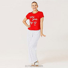 Cotton Tee With Pant Red- Pj MN164 By Miika at Kapruka Online for specialGifts