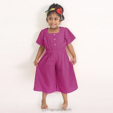 Beautiful Jump Suit LJS003-DARK PURPLE By Lishe at Kapruka Online for specialGifts