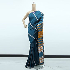 Chathams Blue Rayon Pallu Saree-RP0104 By cotton Weavers at Kapruka Online for specialGifts