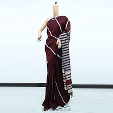 Maroon Rayon Pallu Saree -RP0106 By cotton Weavers at Kapruka Online for specialGifts