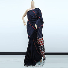 Dark Blue Rayon Pallu Saree-RP0108 By cotton Weavers at Kapruka Online for specialGifts