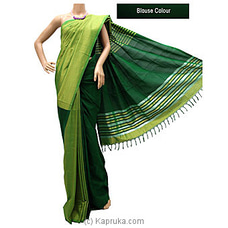 Green Color Rayon mixed Cotton Saree-S1214 By cotton Weavers at Kapruka Online for specialGifts