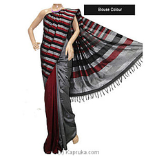 Red And Gray Mixed Rayon Cotton Saree-s1213 at Kapruka Online