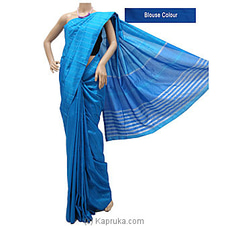 Light Blue Rayon Mixed Cotton Saree-S1215 By cotton Weavers at Kapruka Online for specialGifts