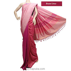 Pink Color Rayon Mixed Cotton Saree-S1217 By cotton Weavers at Kapruka Online for specialGifts