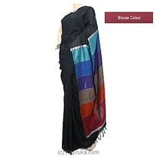 Elegant Black Cotton Saree C1284 By cotton Weavers at Kapruka Online for specialGifts