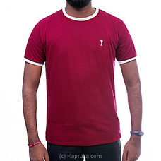 GOLF O NECK TSHIRTS-UF504 MAROON By Urban Golf at Kapruka Online for specialGifts