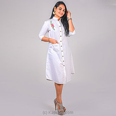 WHITE COLOR EMBROIDER DRESS By NA at Kapruka Online for specialGifts