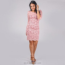 PINK COLOR LACE DRESS By NA at Kapruka Online for specialGifts