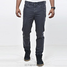 Moose Men`s Summer Denim - Ripped-m112 B-black at Kapruka Online