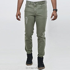Moose Men`s Summer Denim - Ripped-m112 B-olive at Kapruka Online