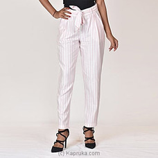 Moose Women`s Club Pant-M312-White Stripes By MOOSE at Kapruka Online for specialGifts