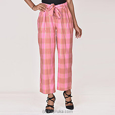 Moose Women`s Serendib Pant-M314-Pink Check By MOOSE at Kapruka Online for specialGifts