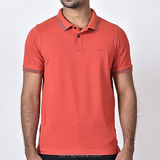 Moose Men`s Slim Fit T-shirt-M500-Maroon Red By MOOSE at Kapruka Online for specialGifts