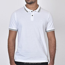 Moose Men`s Slim Fit T-shirt-M500-White at Kapruka Online
