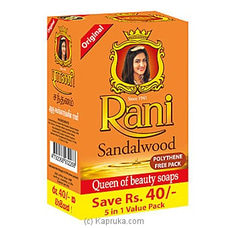 Rani Sandalwood Soap - 5 in1 Pack By Swadeshi at Kapruka Online for specialGifts