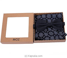 Cotton/Linen Bow Tie-Black By MOZ at Kapruka Online for specialGifts