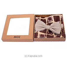 Cotton/Linen bow tie-beige at Kapruka Online