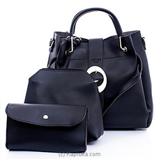 Women`s 3 Piece Black Handbag Set at Kapruka Online
