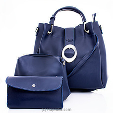 Women`s 3 Piece Blue Handbag Set By NA at Kapruka Online for specialGifts