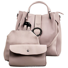 Women`s 3 Piece Light Pink Handbag Set By NA at Kapruka Online for specialGifts