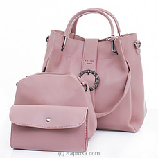 Women`s 3 Piece Pink Handbag Set By NA at Kapruka Online for specialGifts