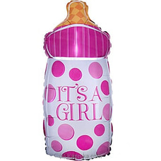 It`s A Girl Foil Balloon Bottle By NA at Kapruka Online for specialGifts
