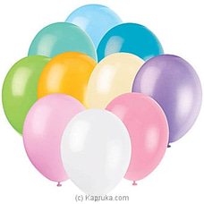 Assorted Pastel Latex Balloons 10 Pack at Kapruka Online