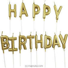 Happy Birthday Letter Candles - Gold at Kapruka Online