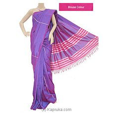 Light Purple Rayon Mixed Cotton  Handloom Saree- S1211i By Cotton Weavers at Kapruka Online for specialGifts