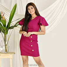 Butterfly Sleeve Purple Bodycon Dress MD0017-PURPLE at Kapruka Online