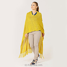Vintage viscose poncho mswh19/0026a -butter melt yellow at Kapruka Online