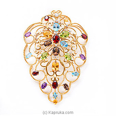 Vogue 22k gold pendant with 23 Color Stone By Vogue at Kapruka Online for specialGifts