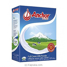 Anchor Full Cream Milk Powder - 400g By Anchor at Kapruka Online for specialGifts