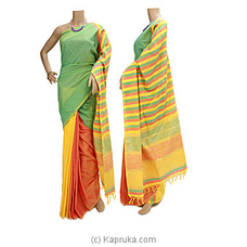 Glossy Cotton Saree-G0510 By Cotton Weavers at Kapruka Online for specialGifts