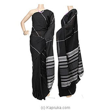 Standard Cotton Saree Black -C1401 By Cotton Weavers at Kapruka Online for specialGifts