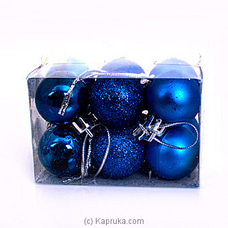 Christmas Deco Balls - 12 Piece By NA at Kapruka Online for specialGifts