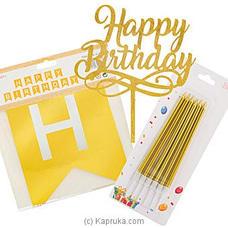 Gold Birthday Celebration Pack By NA at Kapruka Online for specialGifts