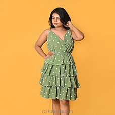 Mint Green Sleeveless Ruffel Dress-DF-F-0043 By Daffodils at Kapruka Online for specialGifts