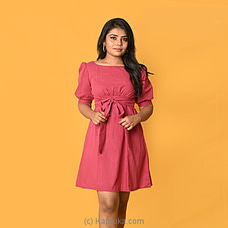 Pinkish Linen Backless Short Dress-DF-F-0047 By Daffodils at Kapruka Online for specialGifts