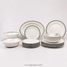 Dankotuwa Teagle Dinner Set- 21 Pieces By Dankotuwa at Kapruka Online for specialGifts