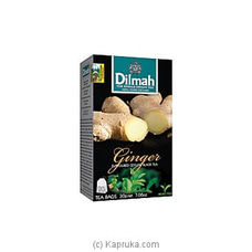 Dilmah Ginger Flavoured Black Tea Bags (1.5g/20Bags) By Dilmah at Kapruka Online for specialGifts