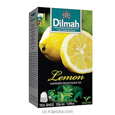 Dilmah Lemon Flavoured Black Tea Bags (1.5g/20Bags) By Dilmah at Kapruka Online for specialGifts