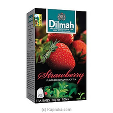 Dilmah Strawberry Flavoured Black Tea Bags (1.5g/20Bags) By Dilmah at Kapruka Online for specialGifts