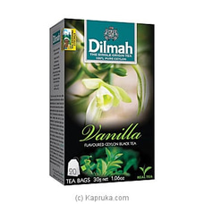 Dilmah Vanilla Flavoured Black Tea Bags (1.5g/20Bags) By Dilmah at Kapruka Online for specialGifts