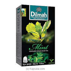 Dilmah Mint Flavoured Black Tea Bags (1.5g/20Bags) By Dilmah at Kapruka Online for specialGifts