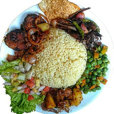 Ruby`s Yellow Rice And Curry With Chicken Devilled   By Gruhanees at Kapruka Online for specialGifts